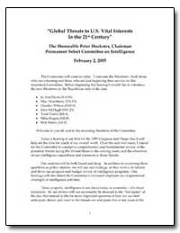 Global Threats to U. S. Vital Interests ... by Hoekstra, Peter