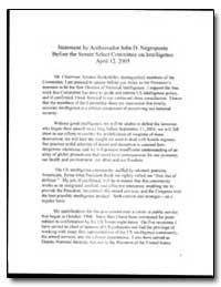 Statement by Ambassador John D. Negropon... by Negroponte, John D.