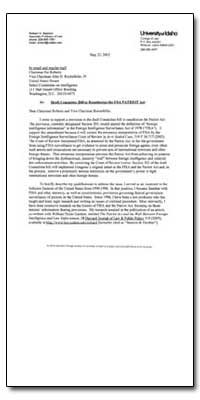 Draft Committee Bill to Reauthorize the ... by Seamon, Richard H.