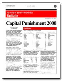 Bureau of Justice Statistics Bulletin by Snell, Tracy L.