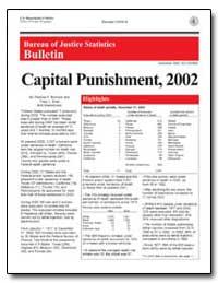 Capital Punishment, 2002 by Bonczar, Thomas P.