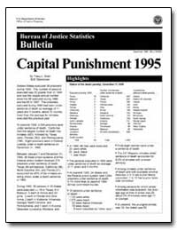 Capital Punishment 1995 by Snell, Tracy L.