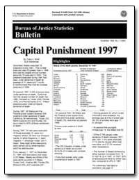 Capital Punishment 1997 by Snell, Tracy L.