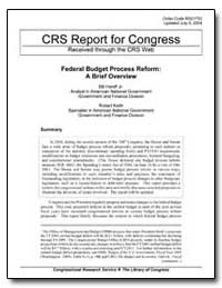 Crs Report for Congress Received through... by Heniff, Bill Jr.