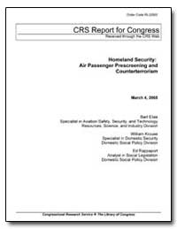 Crs Report for Congress Received through... by Elias, Bartholomew
