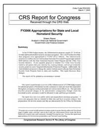 Crs Report for Congress Received through... by Reese, Shawn