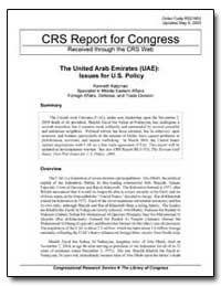 Crs Report for Congress Received through... by Katzman, Kenneth