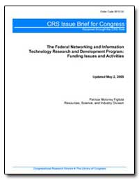 Crs Issue Brief for Congress Received th... by Figliola, Patricia Moloney