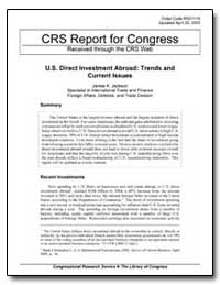 Crs Report for Congress Received through... by Jackson, James K.