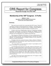 Crs Report for Congress Received through... by Amer, Mildred L.