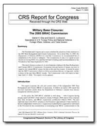 Crs Report for Congress Received through... by Else, Daniel H.
