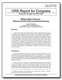 Crs Report for Congress Received through... by Bearden, David M.