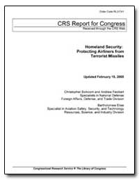 Homeland Security : Protecting Airliners... by Bolkcom, Christopher