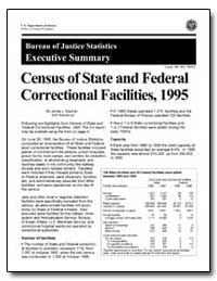 Census of State and Federal Correctional... by Stephan, James J.