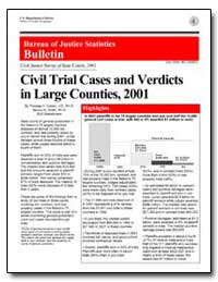Civil Trial Cases and Verdicts in Large ... by Cohen, Thomas H.