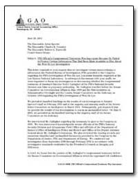 Fbi Official's Congressional Testimony W... by Grassley, Charles E., Senator