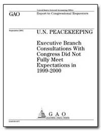 U.N. Peacekeeping Executive Branch Consu... by Hyde, Henry J.
