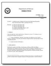 Assistant Secretary of Defense for Netwo... by Wolfowitz, Paul D.