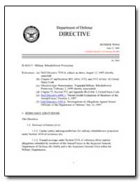 Military Whistleblower Protection by Department of Defense