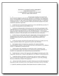 Individual Nondisclosure Agreement for P... by