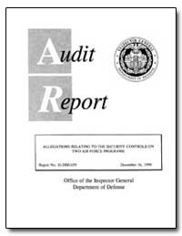 Audit Report by Lieberman, Robert J.