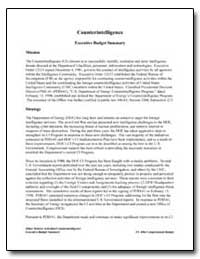 Counterintelligence Executive Budget Sum... by