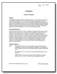 Intelligence Executive Budget Summary by