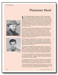 Plutonium Metal by Magel, Ted