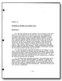 Technical Review to August 1944 by
