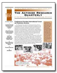 The Actinide Research by Seaborg, Glenn