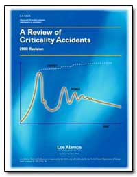 A Review of Criticality Accidents 2000 R... by Frolov, Vladimir V.