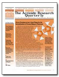The Actinide Research Quarterly by