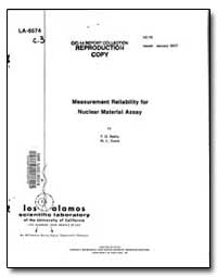 Measurement Reliability for Nuclear Mate... by Reilly, T. D.