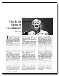 What Is the Future of Los Alamos by Bethe, Hans A.