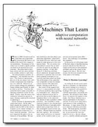 Machines That Learn Adaptive Computation... by Jones, Roger D.