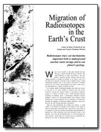 Migration of Radioisotopes in the Earth'... by Eckhardt, Roger C.
