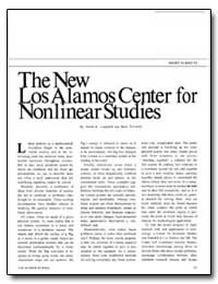 The New Los Alamos Center for Nonlinear ... by Campbell, David K.