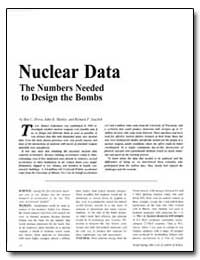 Nuclear Data the Numbers Needed to Desig... by Diven, Ben C.