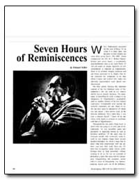 Seven Hours of Reminiscences by Teller, Edward