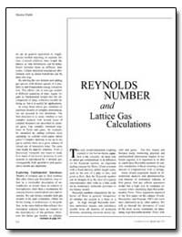 Reynolds Number and Lattice Gas Calculat... by