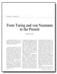From Turing and Von Neumann to the Prese... by Cooper, Necia Grant