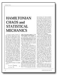 Hamiltonian Chaos and Statistical Mechan... by
