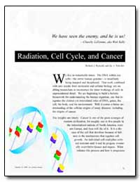 Radiation, Cell Cycle, And Cancer by Reynolds, Richard J.