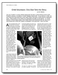 Child Volunteers : One Dad Tells the Sto... by Petersen, Donald