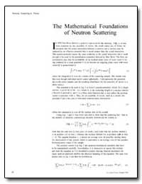 The Mathematical Foundations of Neutron ... by