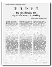 Hippi the First Standard for High-Perfor... by Tenbrink, Stephen C.
