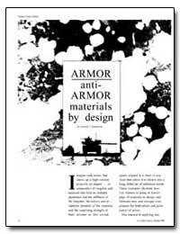 Armor Anti- Armor Materials by Design by Sandstrom, Donald J.
