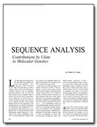 Sequence Analysis Contributions by Ulam ... by Goad, Walter B.