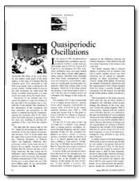 Quasi Periodic Oscillations by