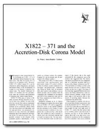 X1822 – 371 and the Accretion-Disk Coron... by Cordova, France Anne-Dominic